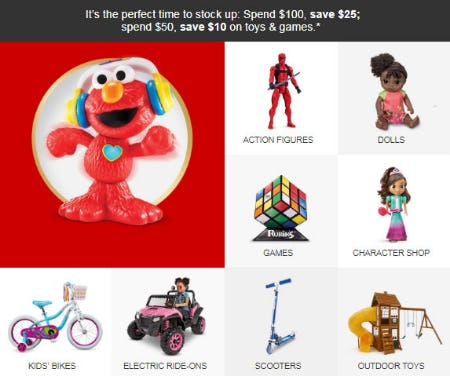 Save Up to $25 Toy Sale