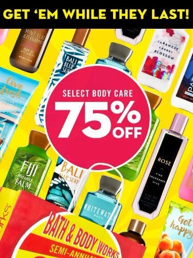 Select Body Care 75% Off