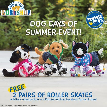 Dog Days of Summer Event at Build-A-Bear Workshop!