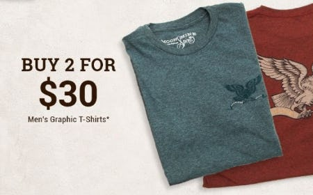 2 for $30 Men's Graphic Tees from Boot Barn Western And Work Wear