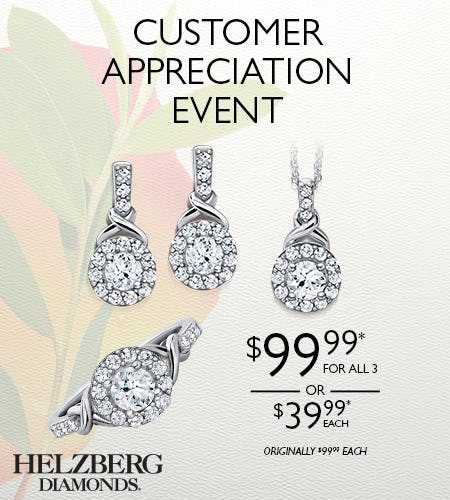 Reserve Your Specially Priced Pendant, Ring or Earrings from Helzberg Diamonds