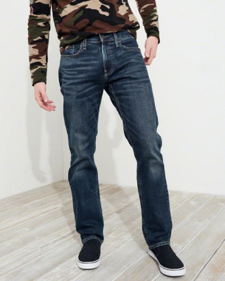 Hollister Epic Flex Slim Straight Jeans from Hollister Co.