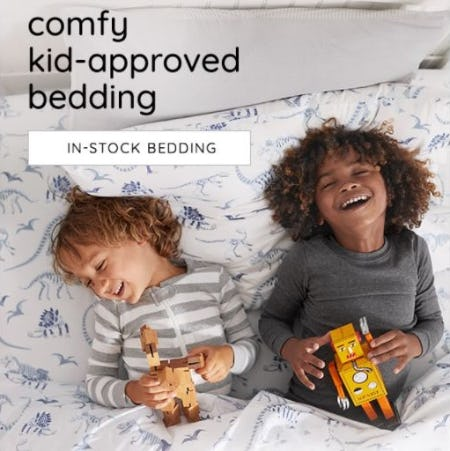 Don't Snooze on Our In-Stock Bedding from Pottery Barn Kids