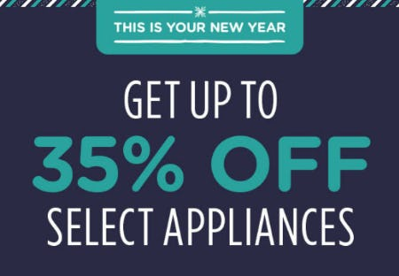 Up to 35% Off Select Appliances from Sears