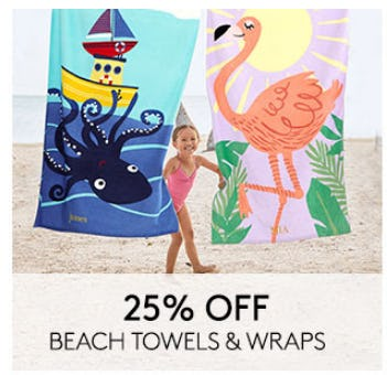 25% Off Beach Towels & Wraps from Pottery Barn Kids