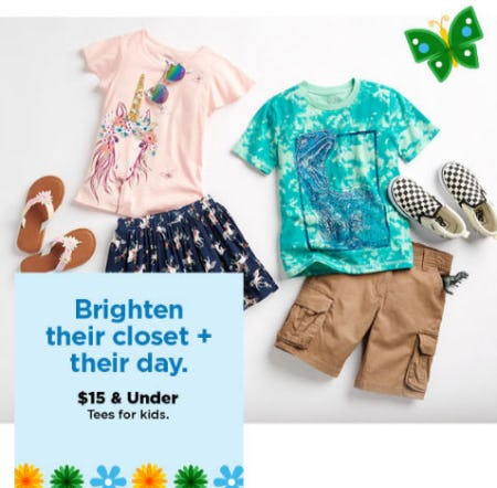 $15 & Under Tees for Kids from Kohl's