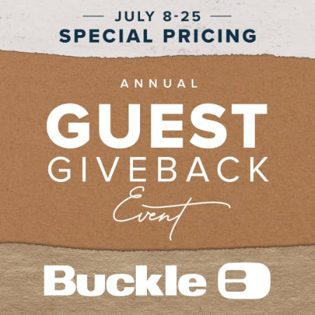 Annual Guest Giveback Event from Buckle