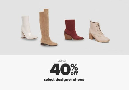 Up to 40% Off Select Designer Shoes