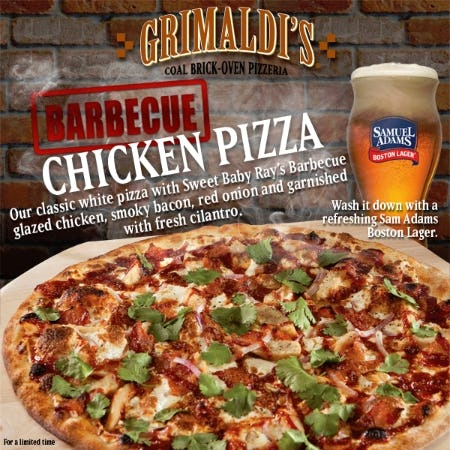 Summer Selections Menu from Grimaldi's Pizzeria