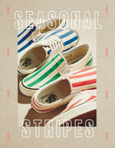 1a822c83c3 NEW From Vans  Striped Sneakers at PacSun