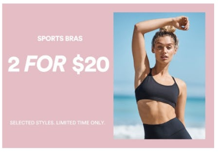 2 for $20 Sports Bras from Cotton On
