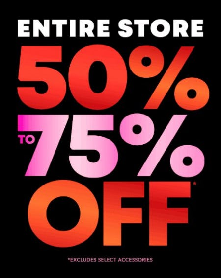 Entire Store 50% to 75% Off from The Children's Place