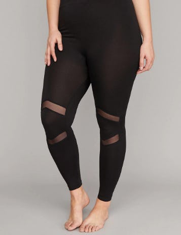 Mesh Inset Legging from Lane Bryant