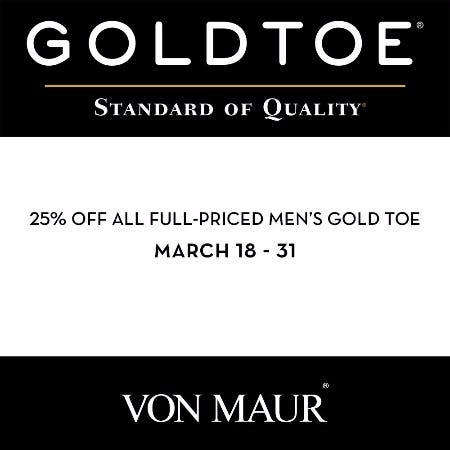 Men's Gold Toe Sale from Von Maur