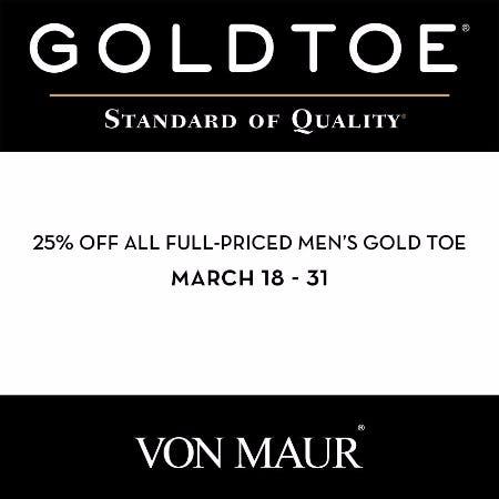 Men's Gold Toe Sale