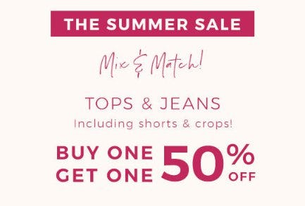 Buy One, Get One 50% Off Tops & Jeans from Lane Bryant