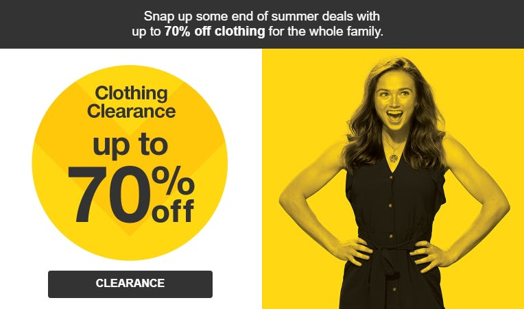 Clothing Clearance Up to 70% Off from Target