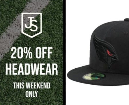 20% Off Headwear from Just Sports