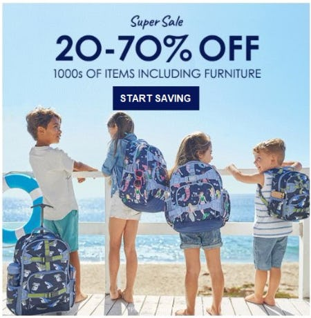 20–70% Off 1000s of Items Including Furniture