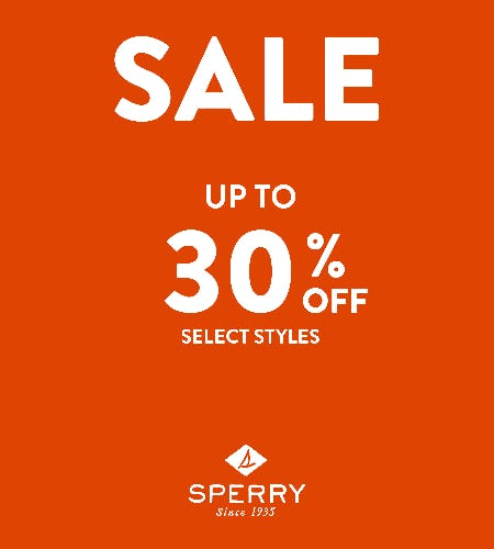 SAVINGS UP-TO 30% OFF from Sperry Top-Sider
