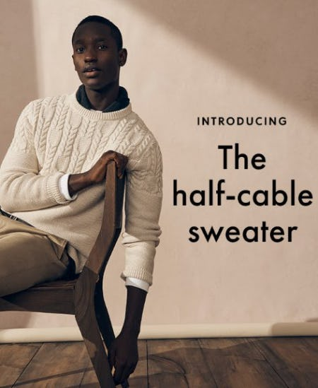 Introducing the Half-Cable Sweater from J.Crew