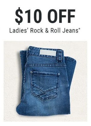 $10 Off Ladies' Rock & Roll Jeans from Boot Barn Western And Work Wear