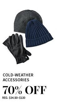 Cold-Weather Accessories 70% Off from Jos. A. Bank