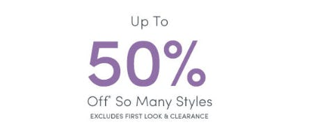 Up to 50% Off So Many Styles from Ann Taylor