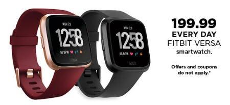 Fitbit Versa Smartwatch $199.99 from Kohl's