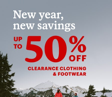 Up to 50% Off Clearance Clothing & Footwear