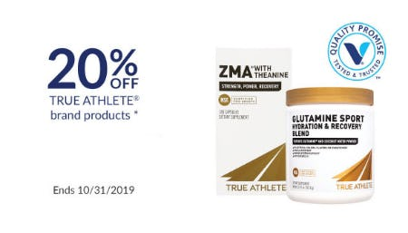 20% Off True Athlete Brand Products from The Vitamin Shoppe