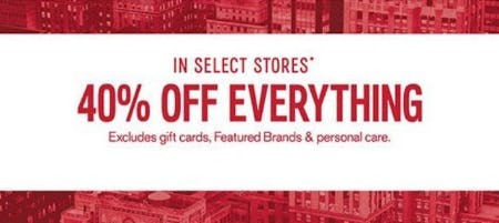 40% Off Everything from Express