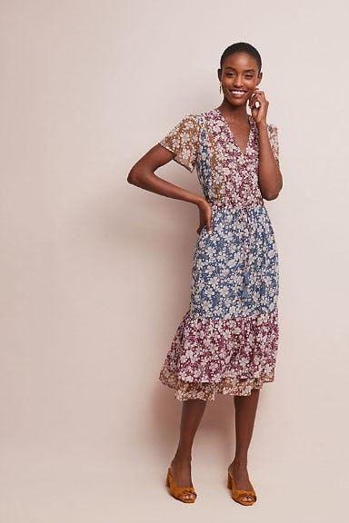 Desert Floral Midi Dress from Anthropologie
