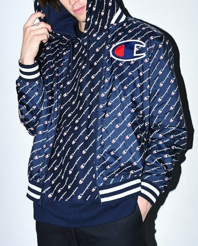 The All-New Satin Navy Baseball Jacket from Zumiez