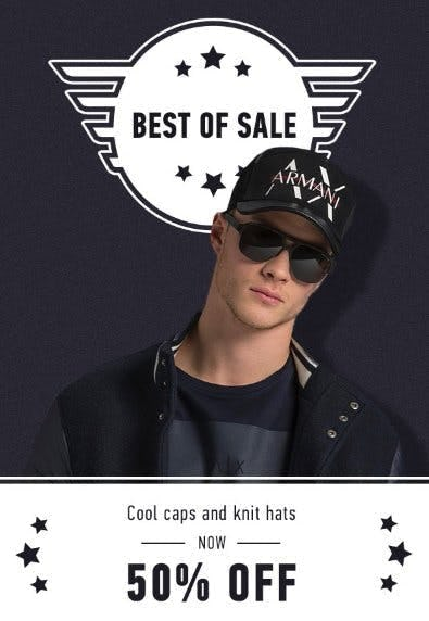 Cool Caps and Knit Hats Now 50% Off
