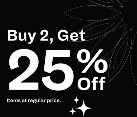 Buy 2, Get 25% Off from Spring