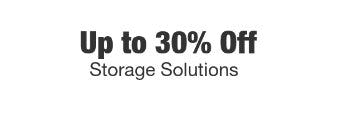 Up to 30% Off Storage Solutions from Home Depot