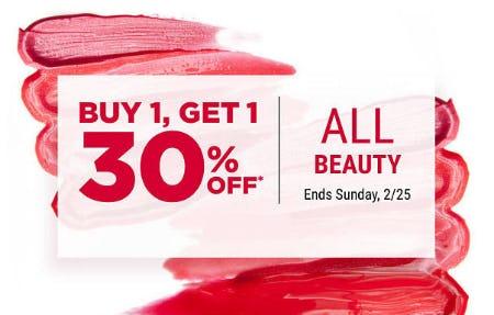 BOGO 30% Off All Beauty from Belk
