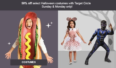 50% Off Select Halloween Costumes