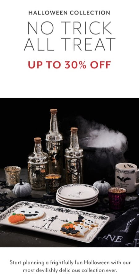 Up to 30% Off Halloween Collection from Sur La Table