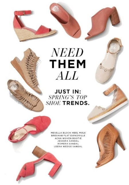 New Spring Shoes from Vince Camuto