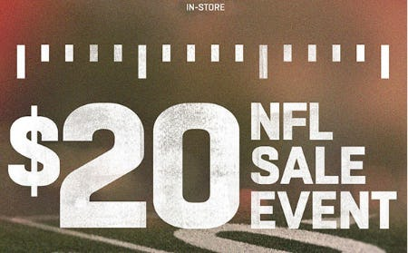 $20 Off NFL Sale Event