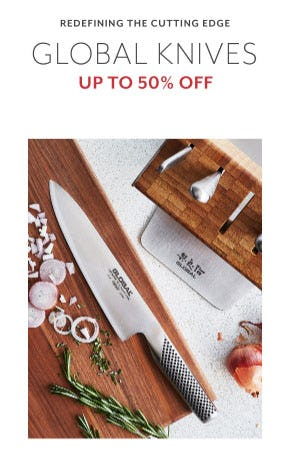 Up to 50% Off Global Knives from Sur La Table