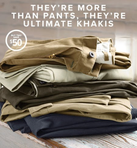 Buy Two, Save $50 Ultimate Khakis from Orvis