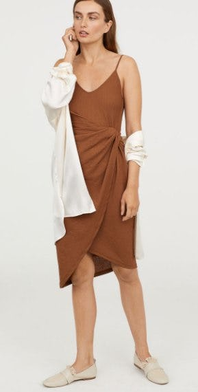 Draped Wrap-front Dress