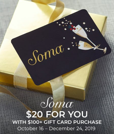 GIFTCARD BOUNCEBACK from Soma By Chico's