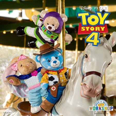 The Toys Are Here! Make Your Own Disney and Pixar Toy Story 4 Bear at Build-A-Bear Workshop! from Build-A-Bear Workshop