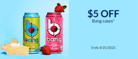 $5 Off Bang Cases from The Vitamin Shoppe