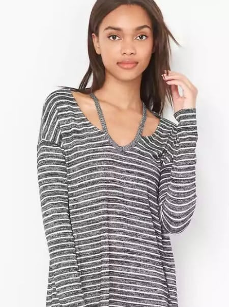 Softspun Slit-Shoulder Tee