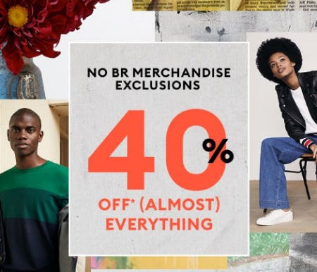 40% Off Almost Everything from Banana Republic